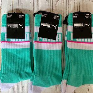 Puma Iconic Crew Socks, 3-Pairs! NWT